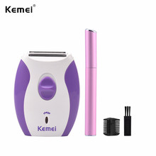 Kemei Depilatory Electric Female Face Hair Removal Women Lady Shaver Razor Epilator For Facial Body Bikini Depilador Depilation цена и фото