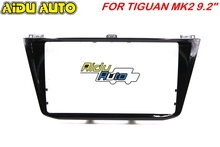 For VW Tiguan MK2 MIB 9.2 inch Piano Black radio media unit Plates Decorative frame