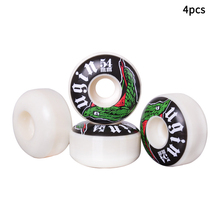 4pcs Double Rocker Smooth PU Leather Easy Install Bearing Accessories Replacement Skateboard Wheel Tire High Hardness Skating