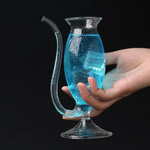 High Borosilicate Crystal Glass Cocktail Wine Cup Clear Heat Resistant Vampire Champagne Whiskey Straw Drinking Juice