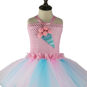 Image 3 - Kids Candy Color Ruched Ice cream tutu dress costume baby girls brithday party dresses Princess dresses girl vestidos PQ255