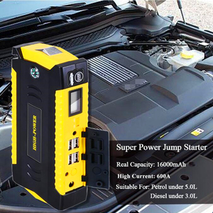 Image 2 - GKFLY High Capacity 16000mAh Starting Device Booster 12V Portable Car Jump Starter Cables Power Bank Car Starter Battery Charger