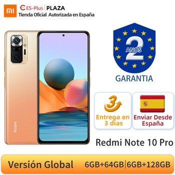 Versión Global Xiaomi Redmi Note 10 Pro teléfono móvil 108MP Cámara Snapdragon 732G 120Hz Pantalla AMOLED