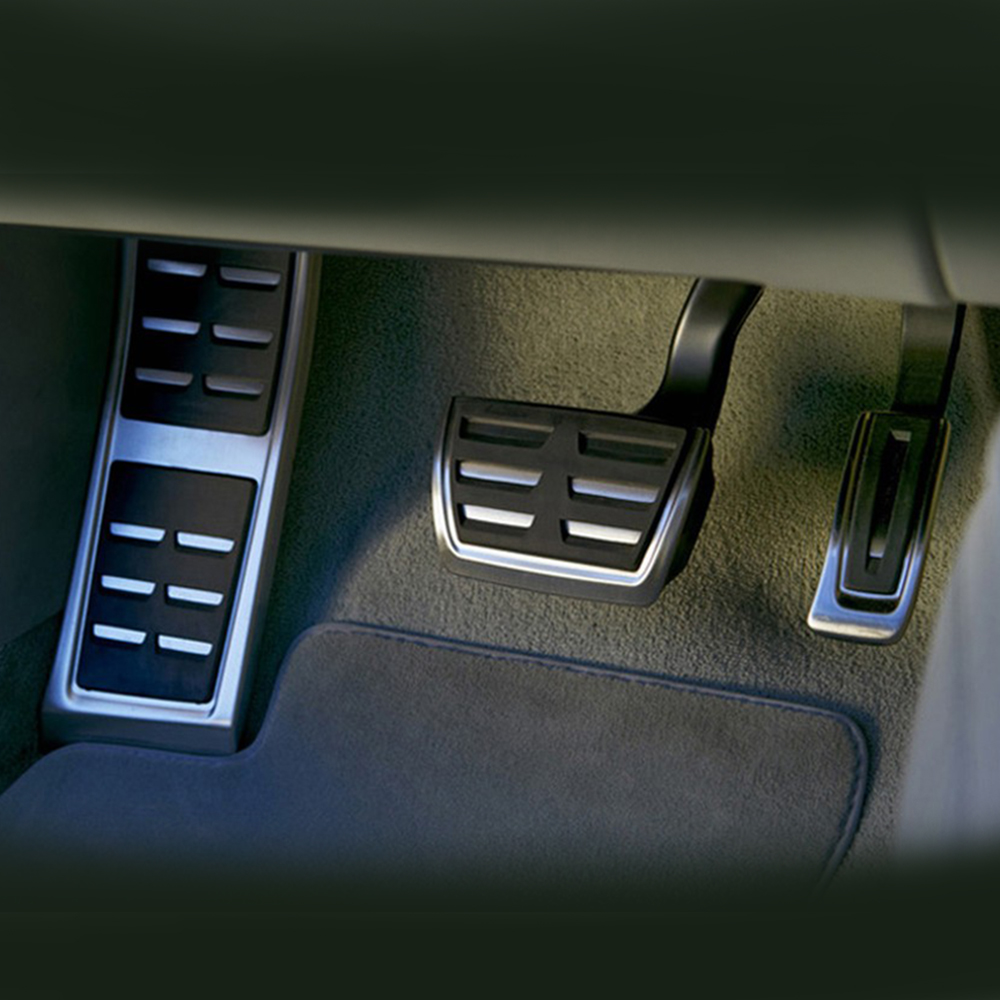 Pedales deportivos DSG compatibles con Audi A4, B8, A6, A7, A8, S4, RS4,A5, S5, RS5, 8T,Q5, SQ5, 8R, cubierta para reposapiés y Pedal de combustible, accesorios para automóvil