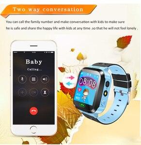 Image 5 - Los niños Smartwatch niños niñas reloj inteligente para niños con GPS a prueba de agua/LBS rastreador juegos SOS llamada de alarma linterna voz C