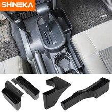 SHINEKA – boîte de rangement de frein à main pour Jeep Wrangler JK 2007 2008 2009 2010