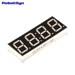 5 штук в упаковке = 4-значный 7-сегментный светодиодный Дисплей трубки, часы/сомнения светодиодный ОТС, синий, зеленый, желтый, красный, белый (...