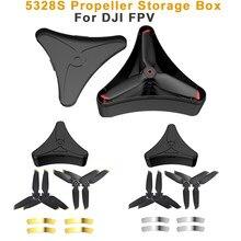 Dji fpv 5328s hélice caso de armazenamento hélice lâmina anti-queda caixa de proteção para dji fpv 5328s aeronaves zangão acessórios