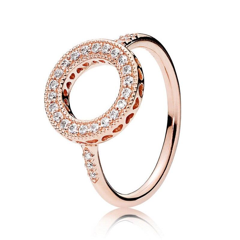 Кольцо на палец в форме сердечко серебряного цвета для женщин, европейская оригинальная Корона, изящные кольца на палец, свадебные украшения, 50 стилей, Прямая поставка - Цвет основного камня: Rings 003