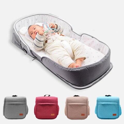 portatil bebe ninho cama viagem recem nascido protecao solar mosquito net respiravel macio infantil multi