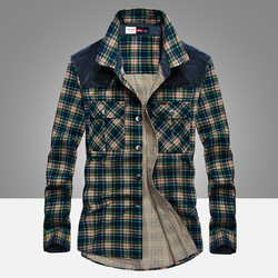 Shirt Mannen Militaire Plaid 111% Katoen Lange Mouw Mannelijke Flanel Herfst Casual Shirts Luxe Business Shirt Camisa Sociale Masculina