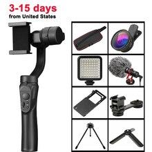 3-осевой портативный смартфон Gimbal стабилизированный держатель для iPhone 11 Pro Xs Max Xr X 8 плюс samsung S9 S8 3 оси Zoom Action Камера