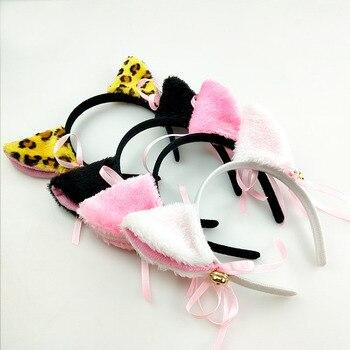 Weihnachten Nette Lolita Anime Plüsch Fuchs Katze Ohr Mit Glocke Haar Hoop Mädchen Stirnband Für Geburtstag Party Cosplay Karneval Headwear|Kostümzubehör|   -