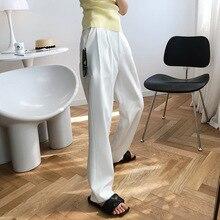 White Suit Harem Pants Women 2020 Vertical Casual Straight