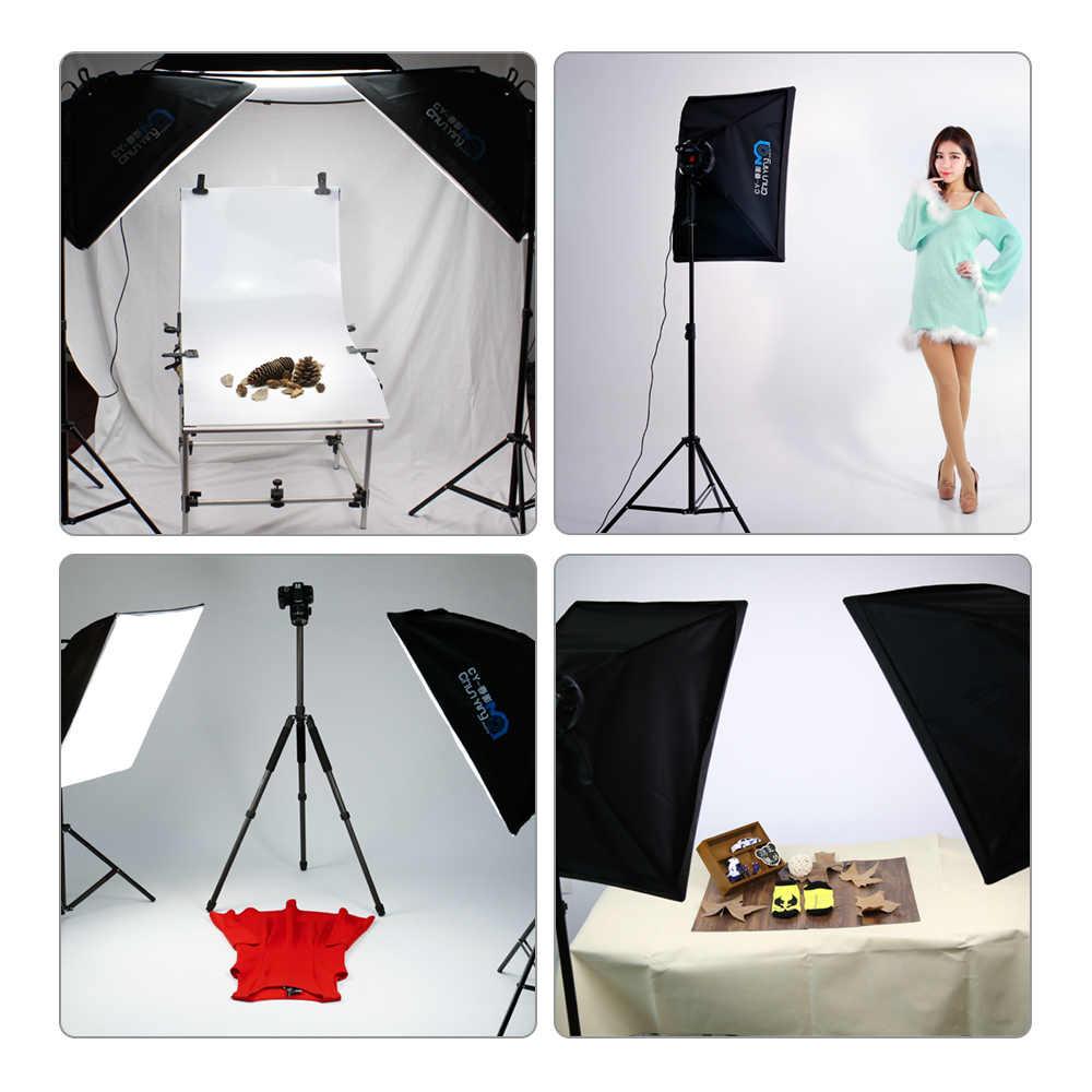 写真撮影 50 × 70 センチメートル led ランプビーズソフトボックス照明キット連続光システムカメラアクセサリーのためのフォトスタジオビデオ