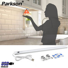 Cabinet Kitchen USB LED Under Lights 3 Colors 30/40/50cm DC 5V Hand Sweep Sensor Lamp High Brightness Bedroom Wardrobe Lighting