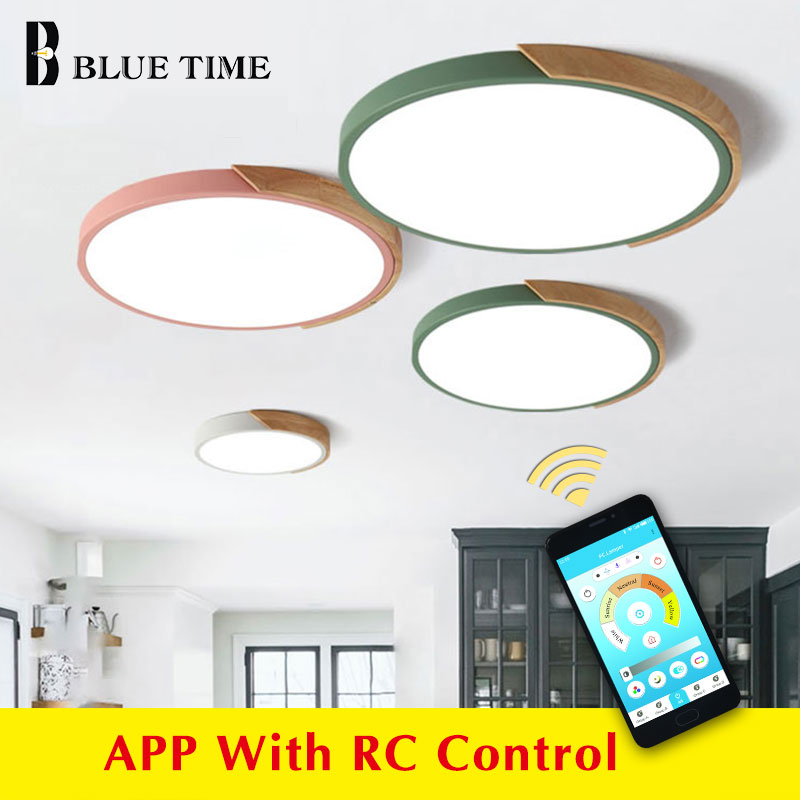 Modern Led Chandeliers Metal Colorized Round 5cm Thin LED Ceiling Chandelier Lampara deco techo Living room Bedroom Kitchen Lamp