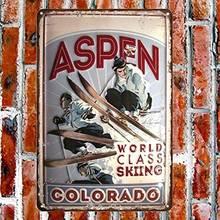 Нет/бренд aspen Колорадо горнолыжный металлический знак вывеска