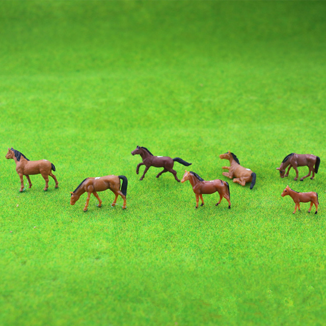 5pcs Ho Soale 1:87and1:150 Sand Table Model Small Animal Color Model Cow Horse Sheep Handicraft Display DIY Handmade Creation 4