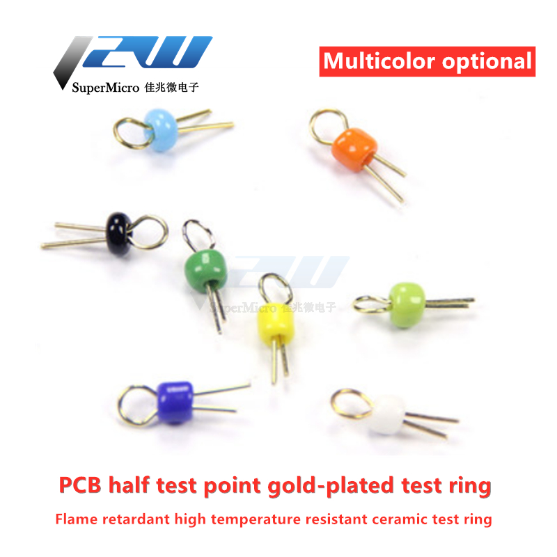 PCB Board, Bead Test Points, Gold Plated Ceramic Circuit Needle Test Ring, Needle Test Points, White, Red, Blue, PCB Test Point