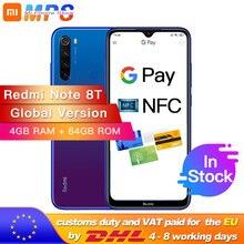 "Global Version Xiaomi Redmi Note 8T 4GB 64GB NFC Snapdragon 665 Octa Core Smartphone 6.3"" 48MP Quad Rear Camera 18W"