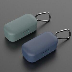 Силиконовый чехол для QCY T5, беспроводная bluetooth-гарнитура, портативный защитный чехол с пряжкой, аксессуары для гарнитуры QCY