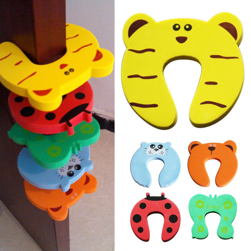 10pcs/Lot Door Stops Cartoon Animal Door Stopper Holder For Home Bedroom Toilet Lock Safety Guard Baby Children Finger Protect