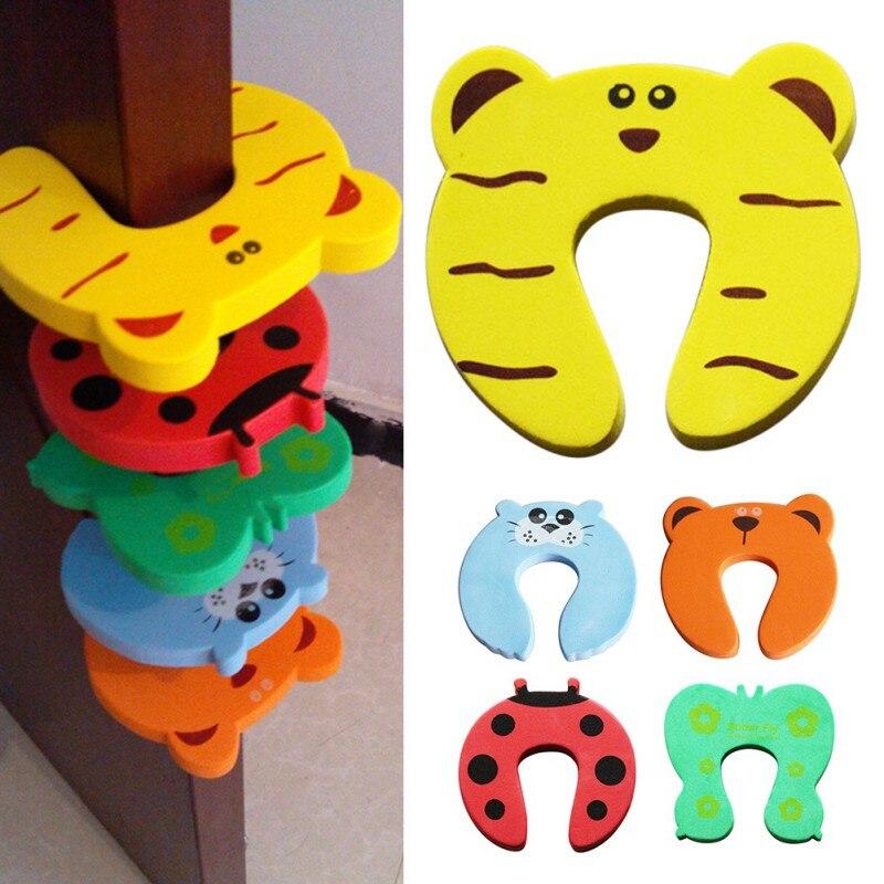 10pcs/Lot Door Stops Cartoon Animal Door Stopper Holder For Home Bedroom Toilet Lock Safety Guard Baby Children Finger Protect