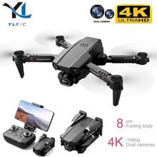 Dron teledirigido 4K 1080P, cámara dual de HD de altura fija, WiFi, Fpv, transmisión visual, Quadcopter plegable, juguete