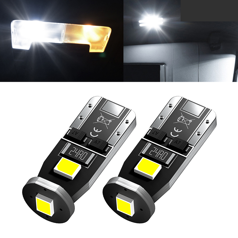 2pcs W5W T10 <font><b>LED</b></font> Bulbs 168 194 <font><b>LED</b></font> Car Interior <font><b>Light</b></font> For <font><b>VW</b></font> Golf 4 5 6 7 Passat B5 B6 B7 <font><b>T5</b></font> T4 T6 Polo CC Beetle Tiguan touareg image