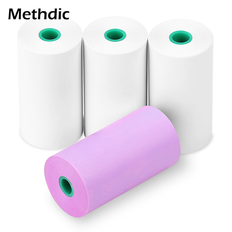 4 Rolls 57 X 30mm Durable Printing Paper Paste Bill Receipt For Peripage