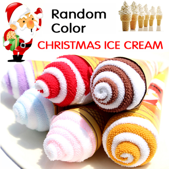 2pc Towel Anta Claus Snowman Christmas Tree Cotton Super Soft Towel Party Decor Gift Accessories Supplies Product Towel image