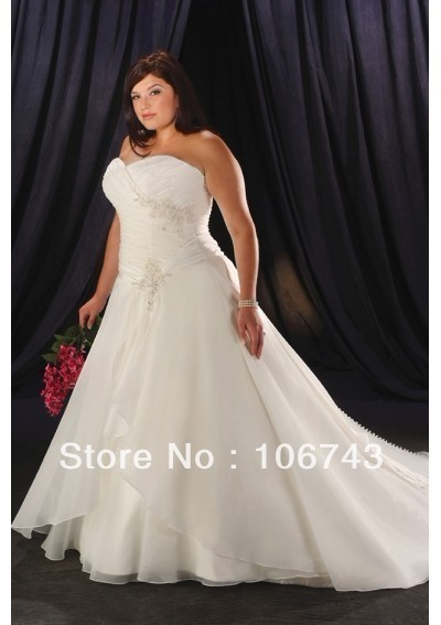 Dress Free Shipping Formal Dress African Dress 2016 Full Dress New Design White Plus Size Beaded Wedding Dresses Bridal Gowns