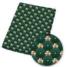 Полиэстеровая хлопковая ткань листовая ткани на тему Дня Святого