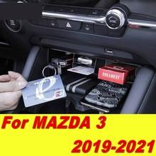 Для Mazda 3, Mazda 3, 2019, 2020, 2021, Модифицированная внутренняя коробка для хранения автомобильных аксессуаров