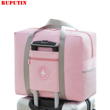 New Women Trolley Case Boarding Bag Large Capacity Folding Travel Bag Organizer Clothing Storage Bag Abroad Luggage Sorting Bag