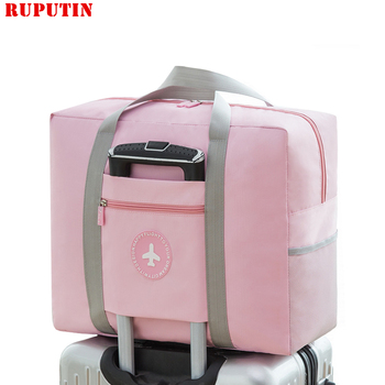 цена на New Women Trolley Case Boarding Bag Large Capacity Folding Travel Bag Organizer Clothing Storage Bag Abroad Luggage Sorting Bag