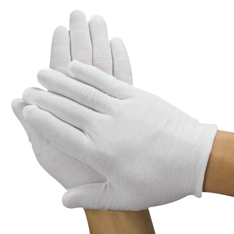 Unisex White Cotton Work Gloves Anti-Sweat Etiquette White Cotton Gloves Quality Inspection High Quality Gloves New Arrival