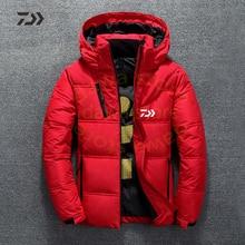 Осень Зима Daiwa Толстовка Рыбацкая куртка Зимние Рыболовные костюмы утолщенная термальная молния карман рыболовные рубашки мужская одежда для улицы