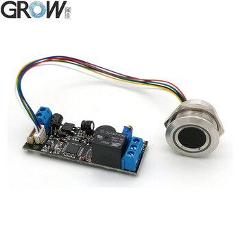 Промышленный K202 + R503, 12 В постоянного тока, яркий индикатор низкой мощности, емкостная плата управления доступом по отпечатку пальца