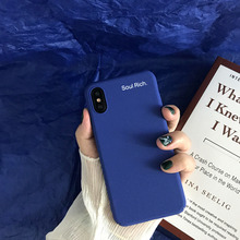 The new minimalist blue mobile phone case for iPhone 6 7 8 anti-drop iPhoneX XS XR Max/iPhone 6S Plus