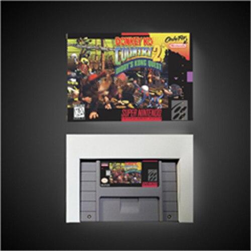 """חמור המדינה קונג 2 דידי של קונג Quest   RPG משחק כרטיס סוללה לחסוך בארה""""ב גרסה תיבה הקמעונאי"""