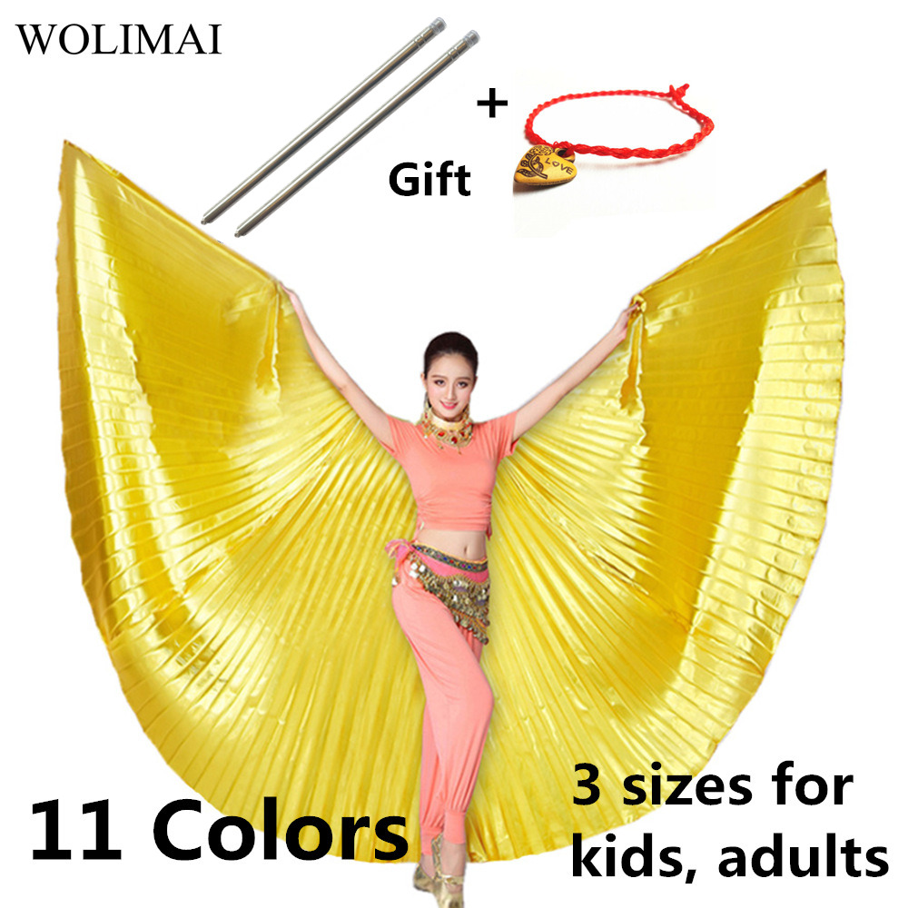 Belly Dance Wings Belly Dance Accessories Bollywood Oriental Egyptian Isis Wings Sticks Costume Adult Kids Children Women Gold