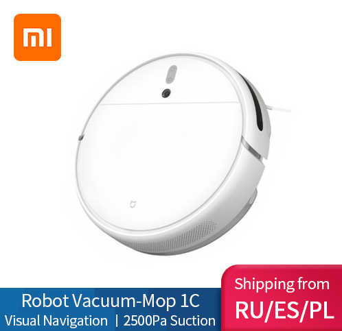 XIAOMI MIJIA Mi Sweeping Mopping Robot 진공 청소기 1C 가정용 자동 먼지 멸균 2500PA cyclone Suction Smart Planned WIFI