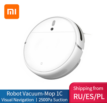 XIAOMI MIJIA Mi Sweeping Mopping Robot Vacuum Cleaner 1C for Home Auto Dust Sterilize 2500PA cyclone Suction Smart Planned WIFI