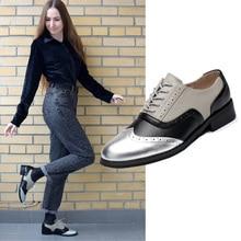Kadın oxford ayakkabı düz hakiki derİ ayakkabi vintage loaferlar kadın bayan ayakkabıları el yapımı daireler 2020 kadın oxfords ayakkabı