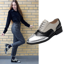 Mulher oxford sapatos de couro genuíno plana casuais do vintage para mocassins senhora sapatos feitos à mão apartamentos 2020 feminino oxfords sapatos