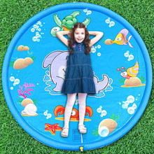 Crianças de verão jogar tapete de água jogo praia esteira inflável spray de água ao ar livre banho piscina piscina esteira de água brinquedos