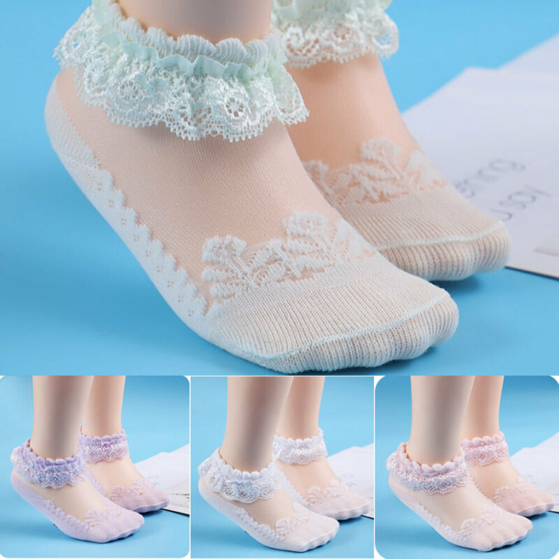 Baby Girls Turn Over Ankle Socks Double Frill White Organza Frilly Newborn-6Y