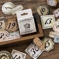 45 teile/schachtel Kreative Retro Datum Papier Aufkleber Dekorative Schreibwaren Aufkleber Scrapbooking Diy Tagebuch Album Stick Label